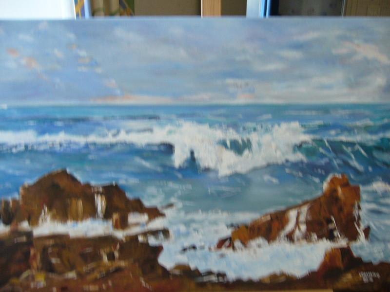 Peinture l 39 huile theme montagne paysage virginie rostaing virginie ro - Peinture a l huile achat ...