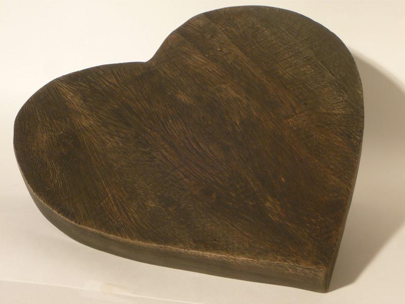dessous de plat coeur en bois de jadis a demain. Black Bedroom Furniture Sets. Home Design Ideas