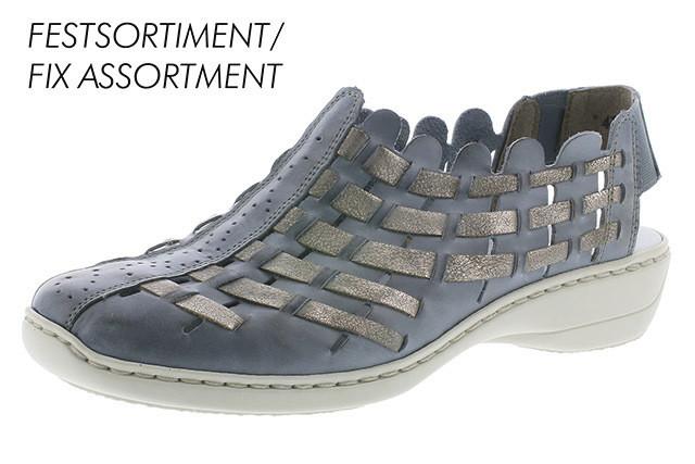 ba5d625d445a57 Chaussure confort femme bleu gris Rieker 413V8-12 - MANDARINE