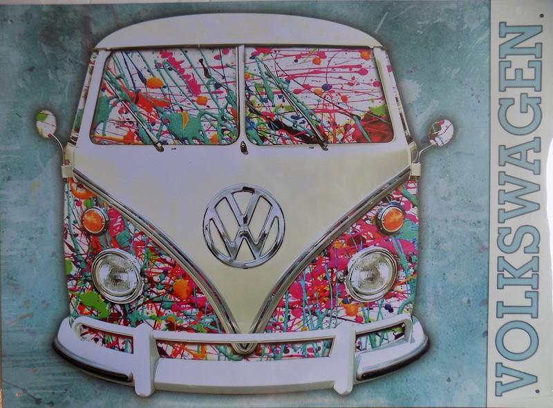 Plaque m tal publicitaire vintage volkswagen vw tofmobile - Plaque publicitaire vintage ...